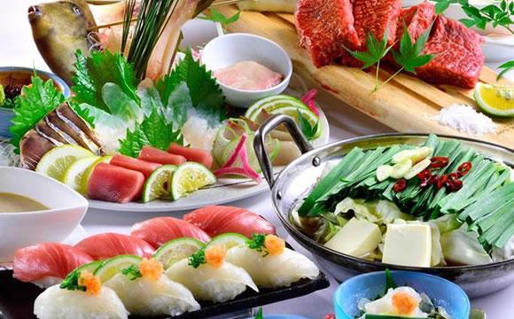 玄海鮮魚姿造りととらふぐ・佐賀牛・握り寿司コース 9品 4,500円(税込)