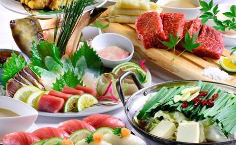 玄海鮮魚姿造りととらふぐ・佐賀牛・握り寿司コース