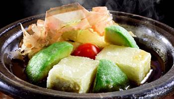 アボカドとトマトの揚出豆腐